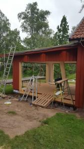 Tillbyggnad belysning takfot